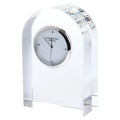 Image of Dartington Crystal Small Curve Clock, Clear