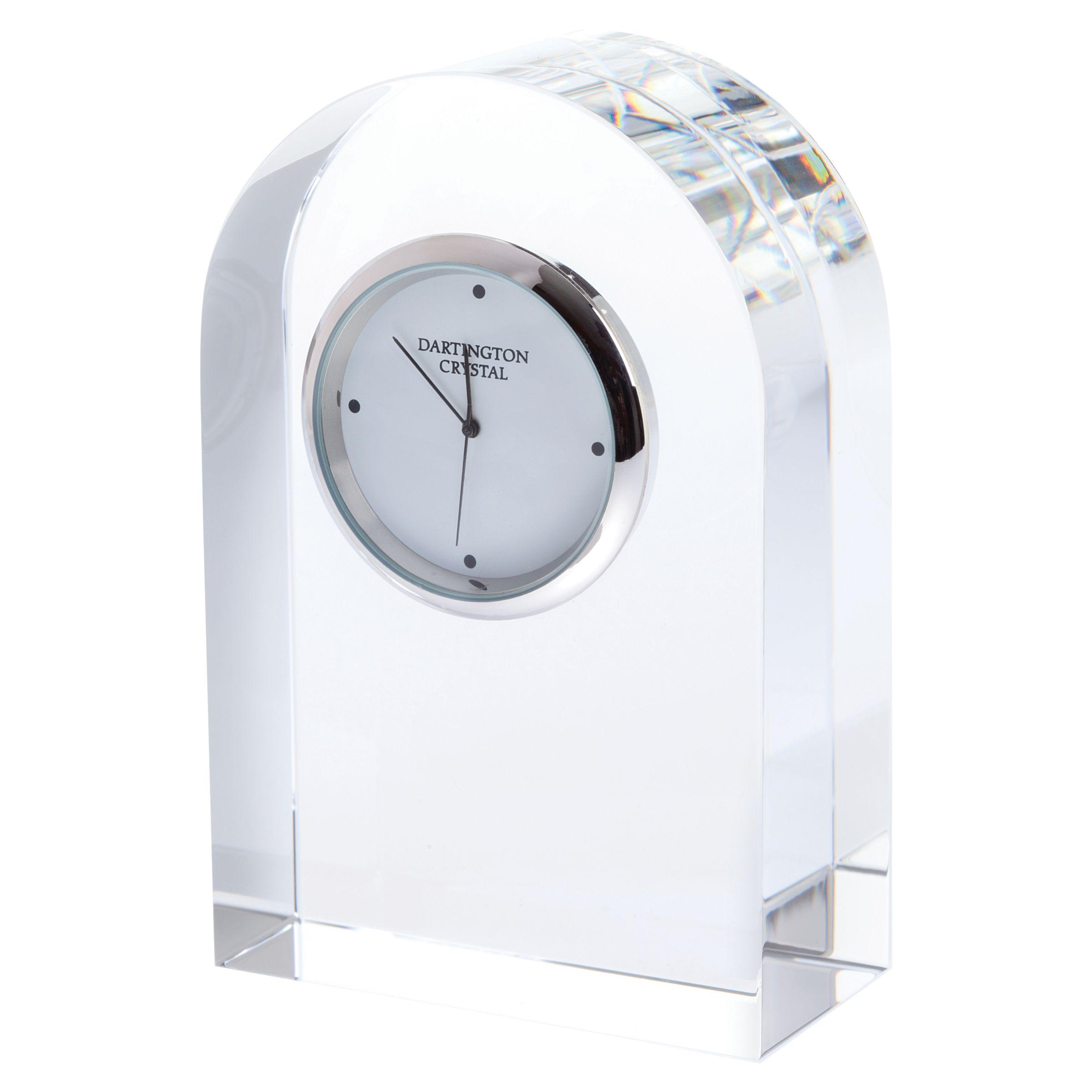 Dartington Crystal Dartington Crystal Small Curve Clock, Clear
