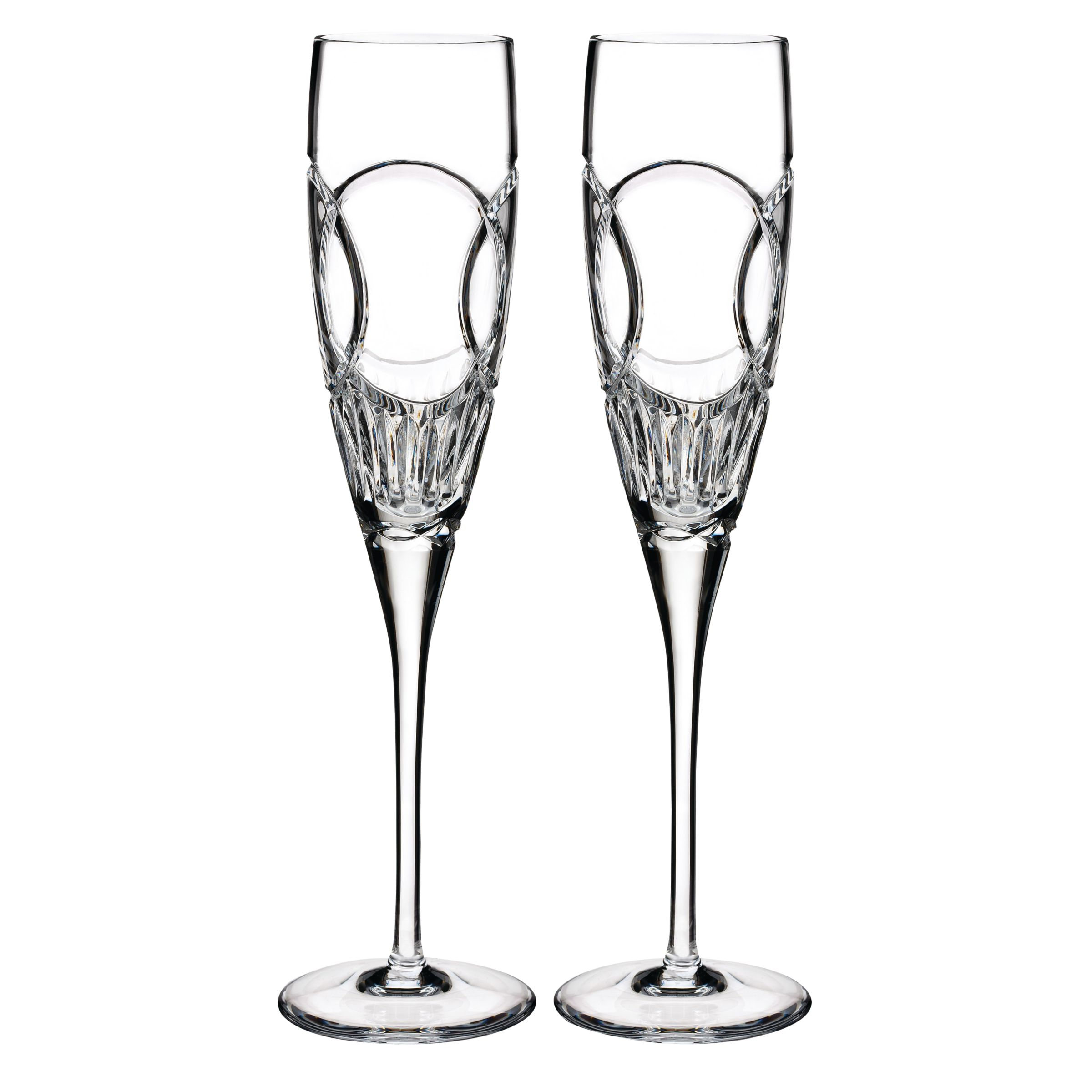 Waterford Waterford Wedding Vows Flutes, Set of 2, Clear