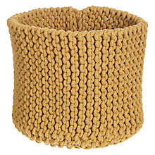Buy John Lewis Croft Collection Knitted Basket, Honey Online at johnlewis.com