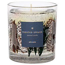 Buy John Lewis Frosted Spruce Christmas Gel Candle, 75g Online at johnlewis.com