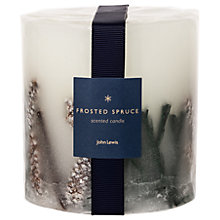 Buy John Lewis Frosted Spruce Inclusion Scented Christmas Candle Online at johnlewis.com