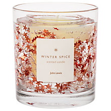 Buy John Lewis Copper Glitter Stars Gel Candle, 75g Online at johnlewis.com