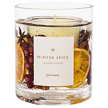 Buy John Lewis Winter Spice Gel Candle, Large, 160g Online at johnlewis.com