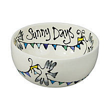 Buy Gallery Thea Personalised Seagull and Bunting Cereal Bowl, Large Online at johnlewis.com