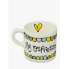 Buy Gallery Thea Personalised Espresso Mug Online at johnlewis.com