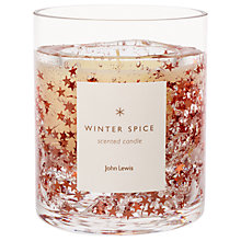 Buy John Lewis Copper Glitter Stars Gel Candle, 160g Online at johnlewis.com