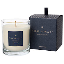 Buy John Lewis Frosted Spruce Christmas Candle, 220g Online at johnlewis.com
