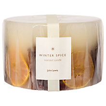 Buy John Lewis Winter Spice Inclusion Three Wick Christmas Candle, 1.4kg Online at johnlewis.com
