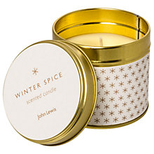 Buy John Lewis Winter Spice Christmas Candle Tin, 135g Online at johnlewis.com