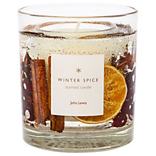 Buy John Lewis Winter Spice Gel Christmas Candle, Medium, 75g Online at johnlewis.com
