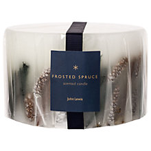Buy John Lewis Frosted Spruce Inclusion Three Wick Candle, 1.4kg Online at johnlewis.com