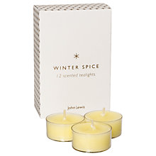 Buy John Lewis Winter Spice Tea Lights, Set of 12 Online at johnlewis.com