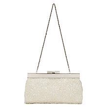 Buy Phase Eight Carrie Beaded Clutch Bag, Ivory Online at johnlewis.com