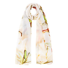 Buy Coast Seville Lily Printed Scarf, Blush Online at johnlewis.com