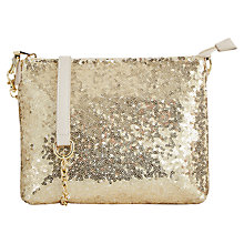Buy Oasis Summer Sequin Pouch Bag, Gold Online at johnlewis.com