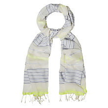 Buy White Stuff Neon Woven Stripe Scarf, Multi Online at johnlewis.com