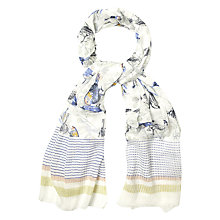 Buy White Stuff Sketchy Bird Print Scarf, Multi Online at johnlewis.com
