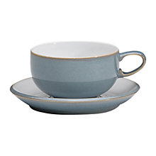 Buy Denby Azure Tea / Coffee Cup, Blue, Seconds Online at johnlewis.com