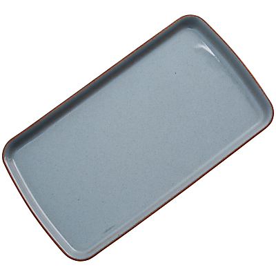 Denby Heritage Rectangle Plate, Blue, Seconds