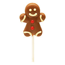 Buy Natalie Milk Chocolate Gingerbread Man Lollipop, 30g Online at johnlewis.com