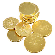 Buy Milk Chocolate Coins, 75g Online at johnlewis.com