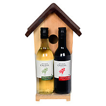 Buy Birdhouse With 2 Bottles Of Wine Online at johnlewis.com