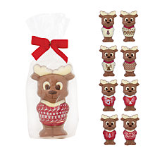 Buy Milk Chocolate Reindeer, Assorted Designs, Pack of 8, 75g Online at johnlewis.com