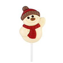 Buy Natalie White Chocolate Waving Snowman Lollipop, 35g Online at johnlewis.com