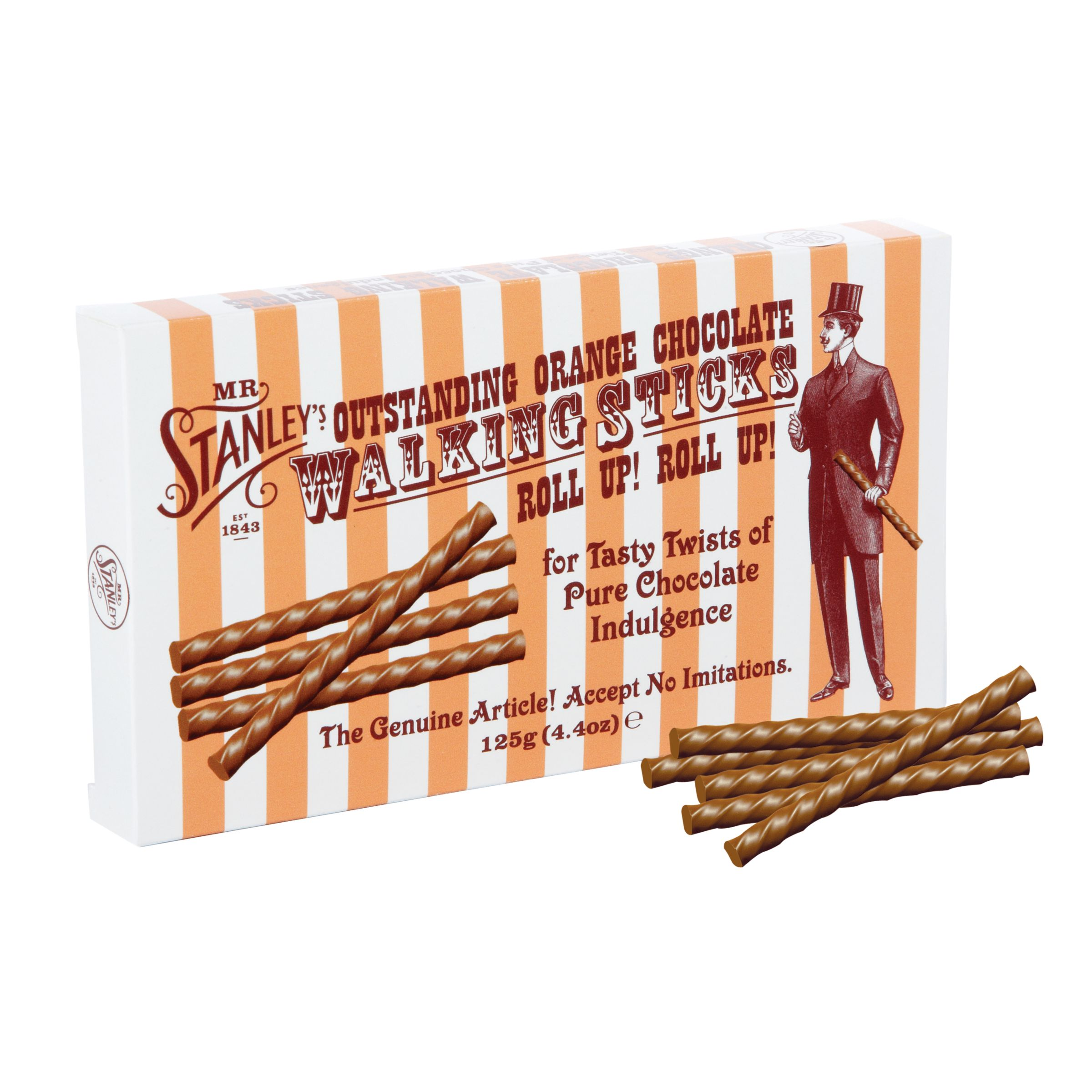 Mr Stanley's Mr. Stanleys 'Walking Sticks' Orange Milk Chocolate, 125g