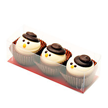 Buy Natalie Snowman Chocolate Cups, Box of 3, 50g Online at johnlewis.com