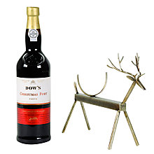 Buy Reindeer Wine Stand & Dow's Christmas Port, 750ml Online at johnlewis.com