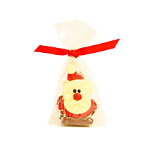 Buy Natalie White Chocolate Santa Caraques, Pack of 4, 50g Online at johnlewis.com
