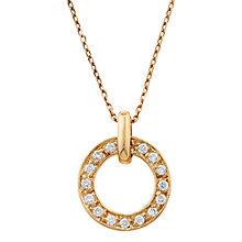 Buy London Road 9ct Gold Diamond Meridian Pendant Online at johnlewis.com