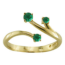 Buy EWA 9ct Yellow Gold Open Stem Ring Online at johnlewis.com