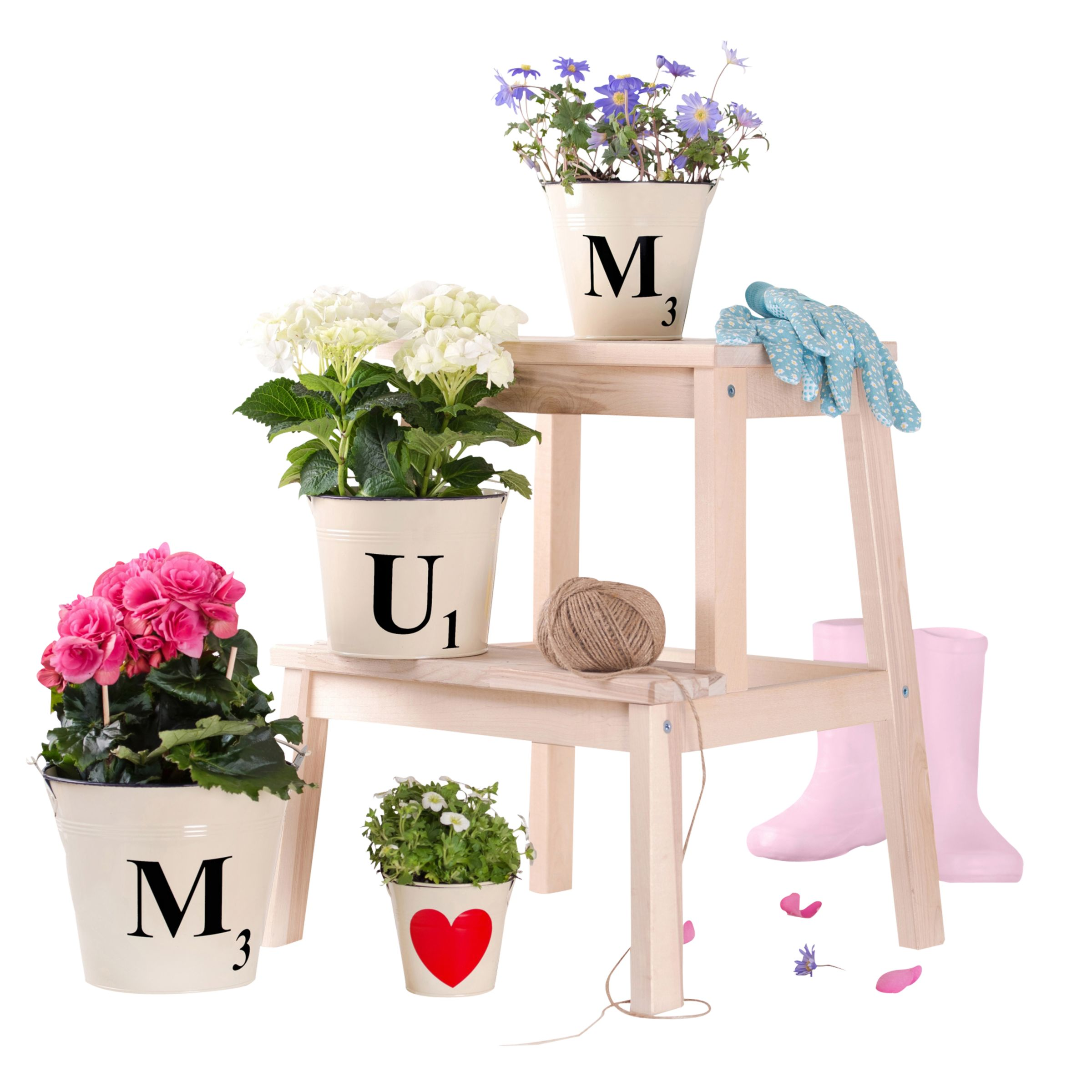The Letteroom The Letteroom Letter Tile Style Buckets