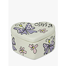 Buy Gallery Thea Personalised Heart Box, Small Online at johnlewis.com