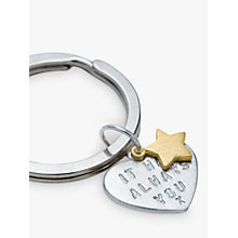 Buy Chambers & Beau Personalised 'Love Is' Keyring Online at johnlewis.com