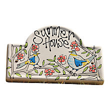 Buy Gallery Thea Personalised Oval House Plaque, Large Online at johnlewis.com