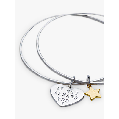 Chambers & Beau Personalised 'Love Is' Double Bangle