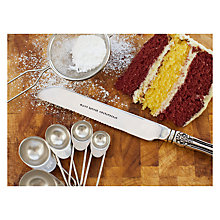 Buy Cutlery Commission Silver-Plated Personalised Cake Knife Online at johnlewis.com