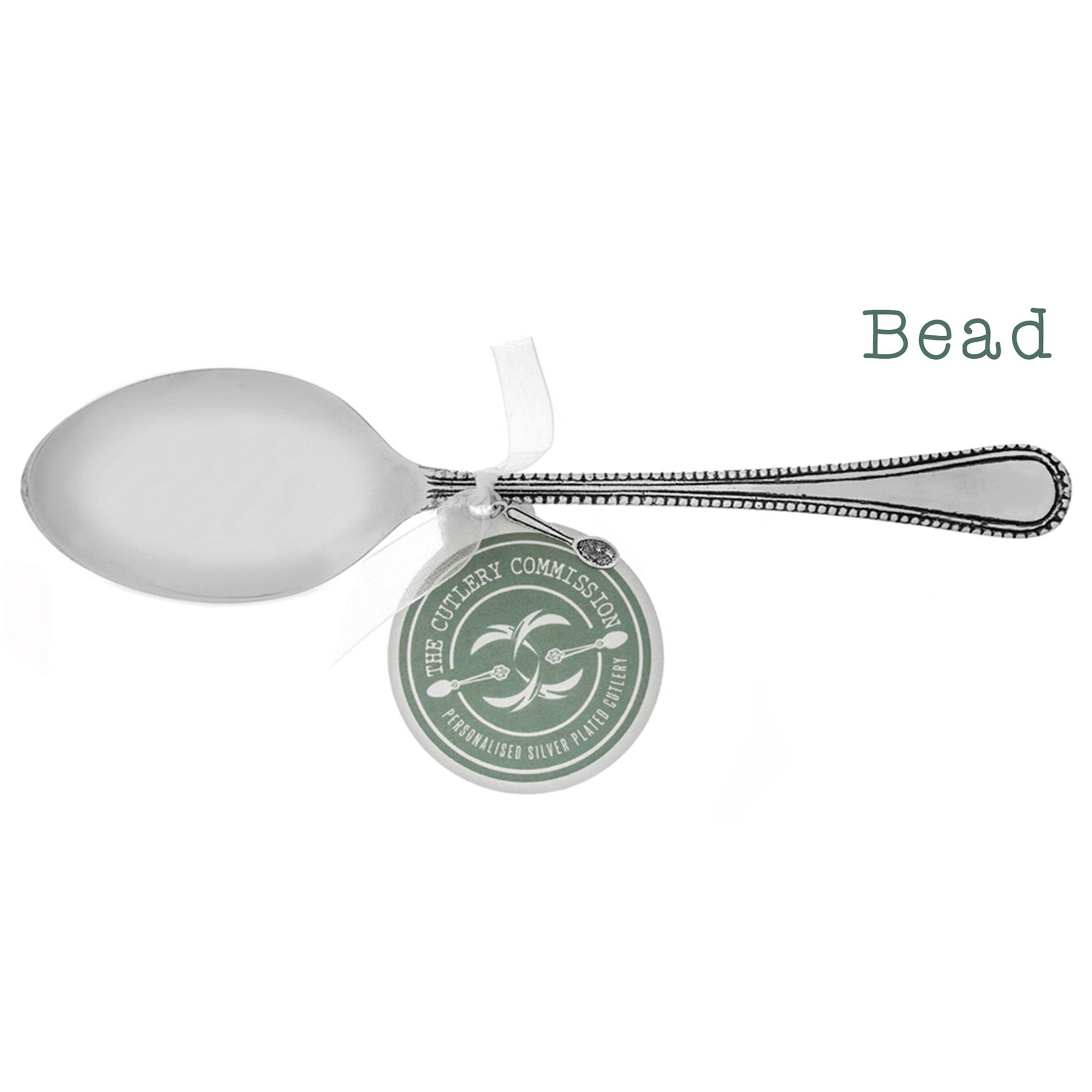 Cutlery Commission Cutlery Commission Silver-Plated Personalised Dessert Spoon