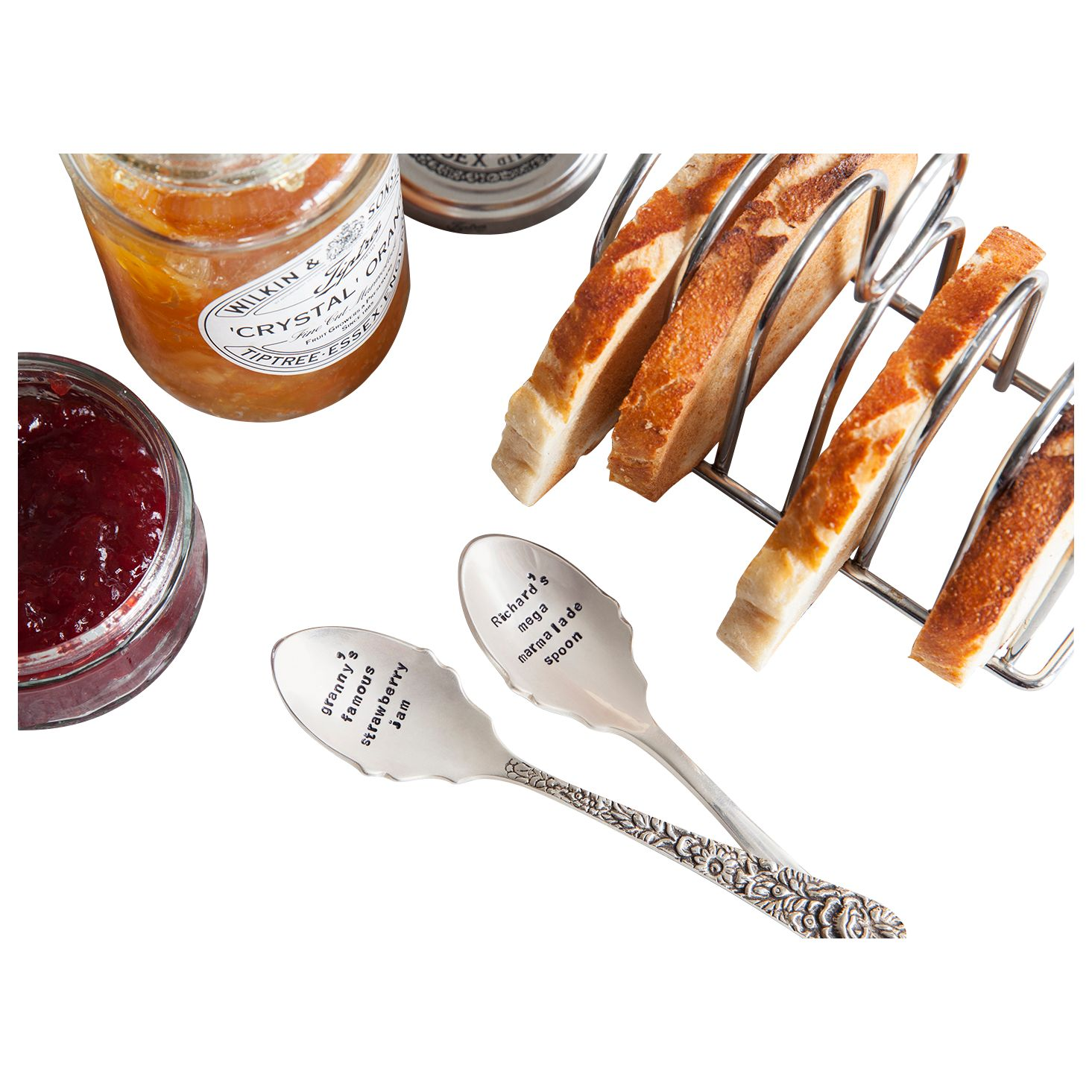 Cutlery Commission Cutlery Commission Silver-Plated Personalised Jam Spoon