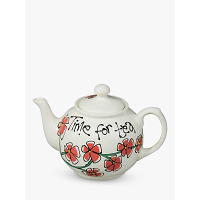 Image of Gallery Thea Personalised Flower 4 Cup Teapot