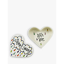 Buy Gallery Thea Personalised Heart Box, Medium Online at johnlewis.com