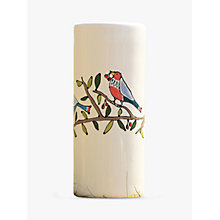 Buy Gallery Thea Bird Cylinder Vase, Large Online at johnlewis.com