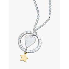 Buy Chambers & Beau Personalised 'Love You' Halo Necklace Online at johnlewis.com