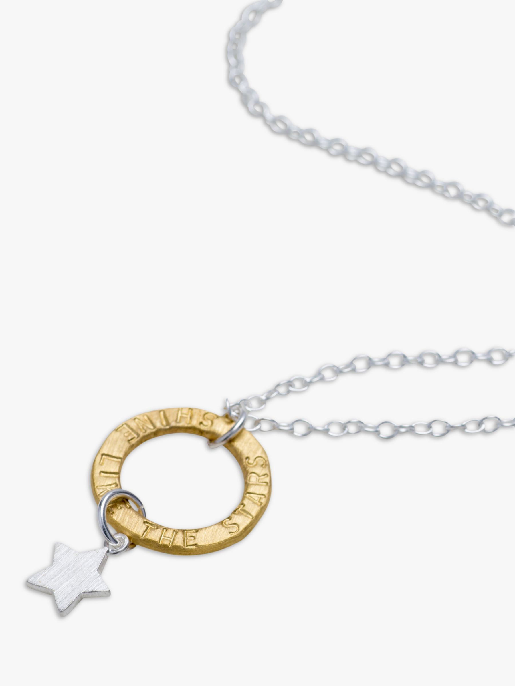 Chambers & Beau Chambers & Beau Personalised Mini Halo and Star Necklace