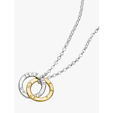 Buy Chambers & Beau Personalised Linked Halo Necklace Online at johnlewis.com