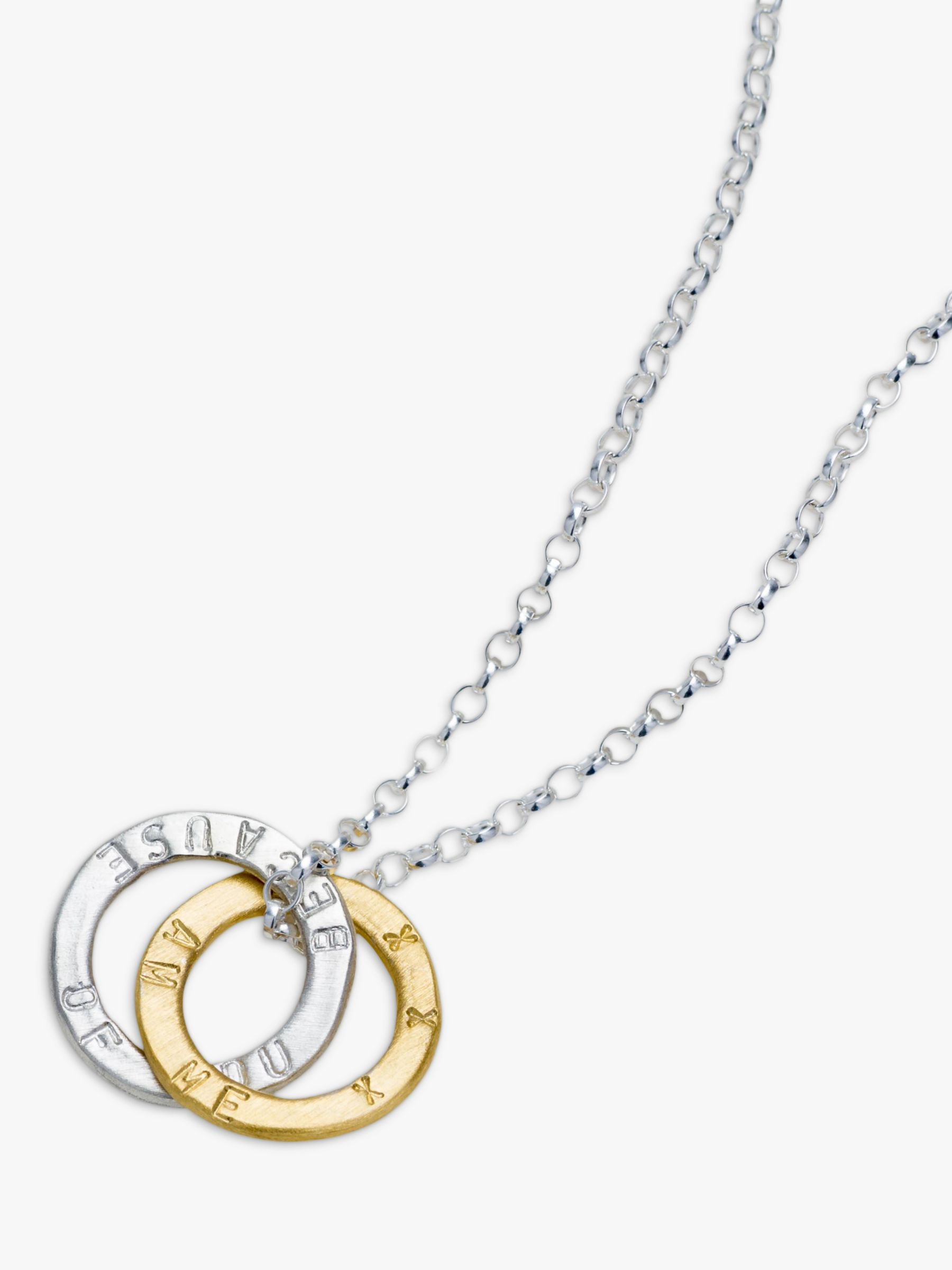 Chambers & Beau Chambers & Beau Personalised Linked Halo Necklace